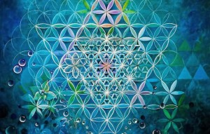Blue Lotus Intuitive Arts - Xochi Raye - Flower of Life fractal